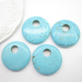 Turkus donat 40x7-8mm
